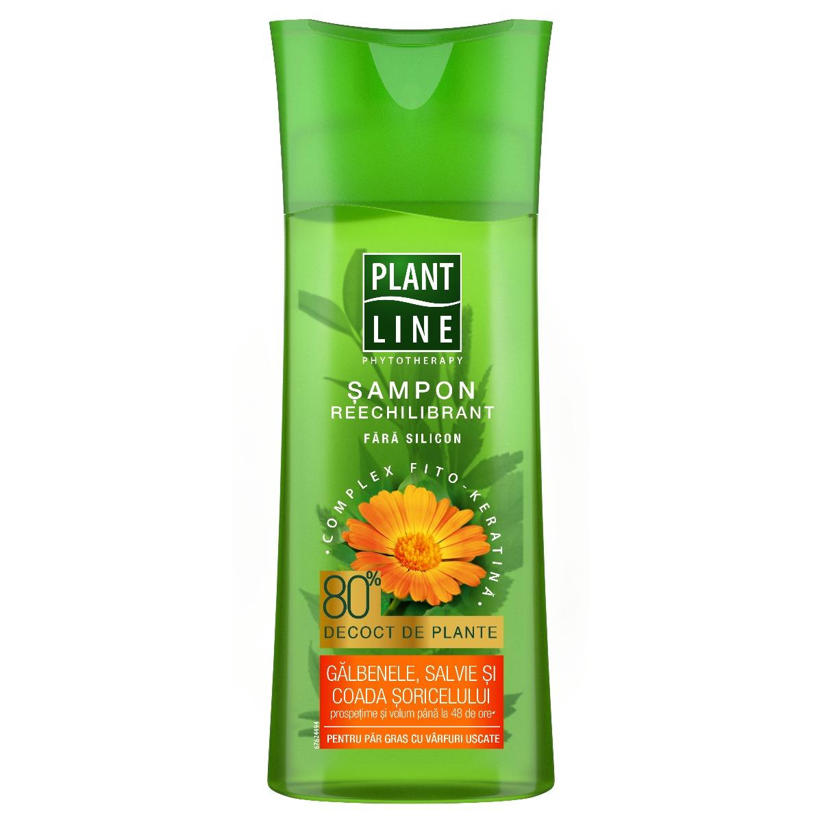 Sampon cu extract de galbenele Plant Line, 250 ml