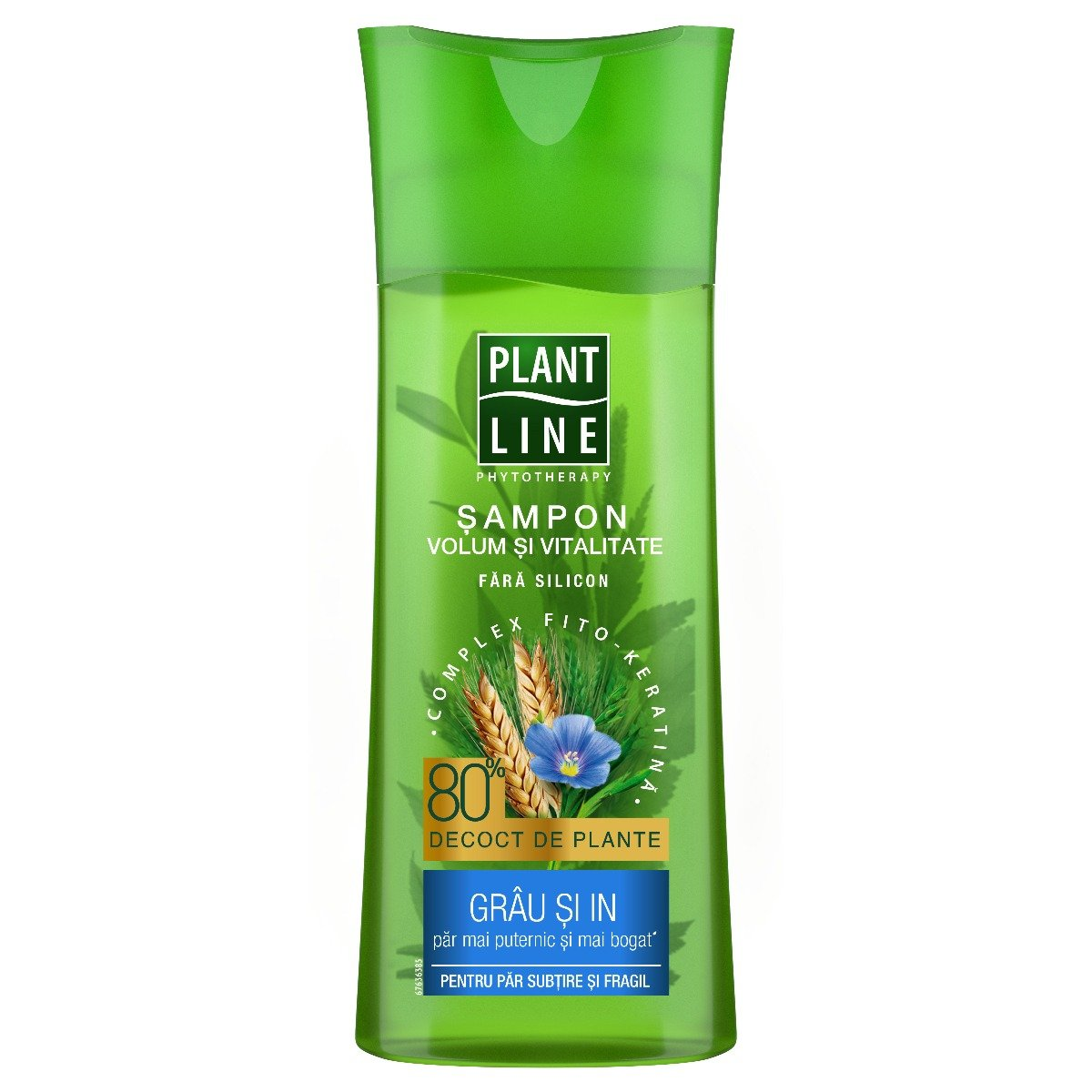Sampon cu extract de grau si in Plant Line, 250 ml