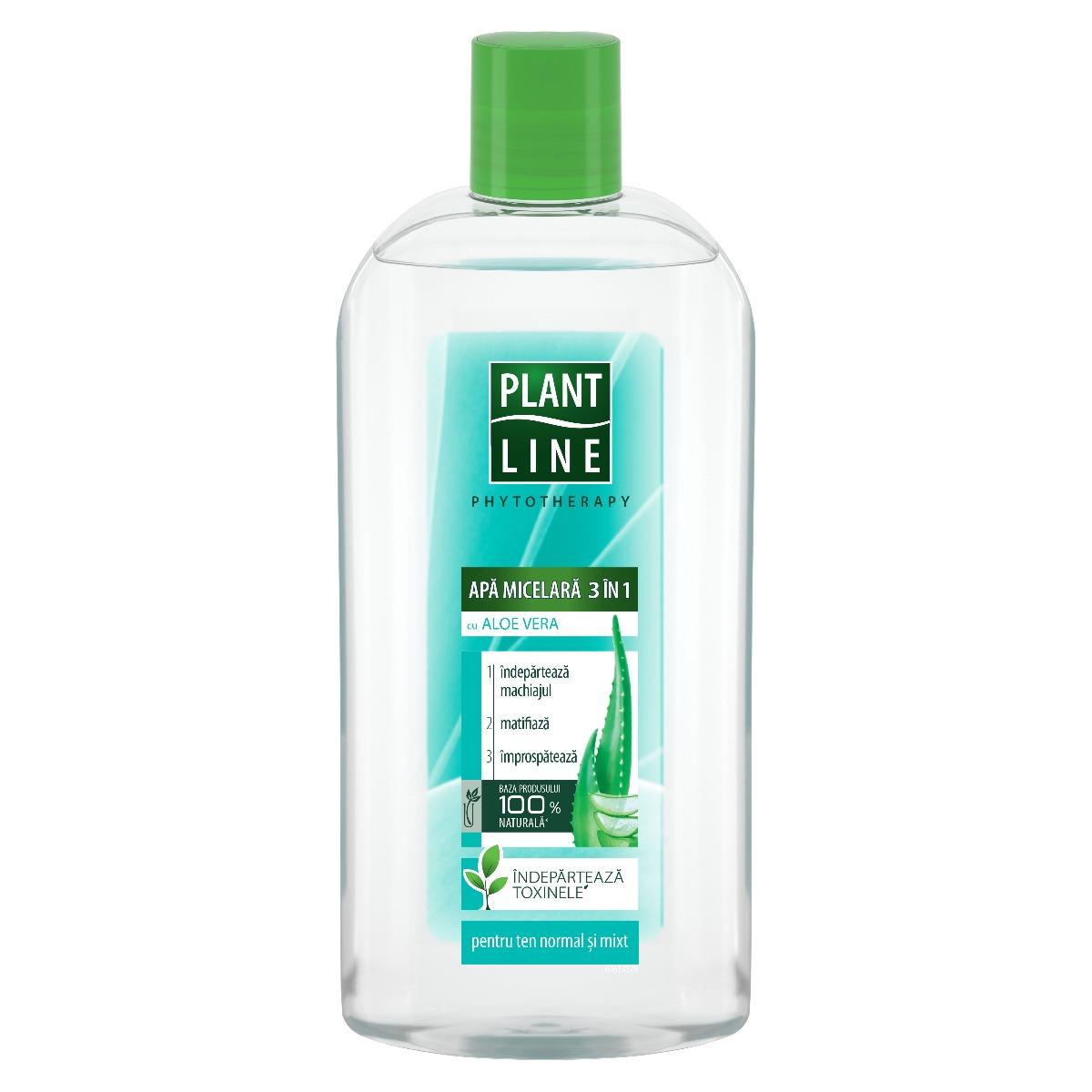 Apa micelara cu extract de Aloe Vera Plant Line, 400 ml imagine