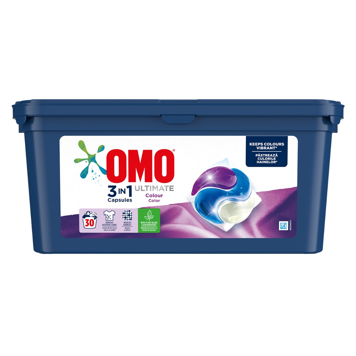 Detergent Omo Ultimate Trio Caps Colour, 30 capsule imagine 2021