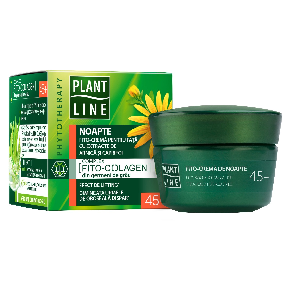 Crema de noapte Plant Line Arnica, 45+, 45 ml imagine 2021