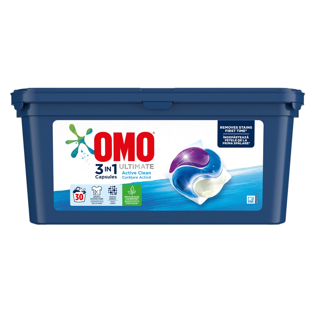 Detergent Omo Ultimate Trio Caps Active Clean, 30 capsule imagine 2021