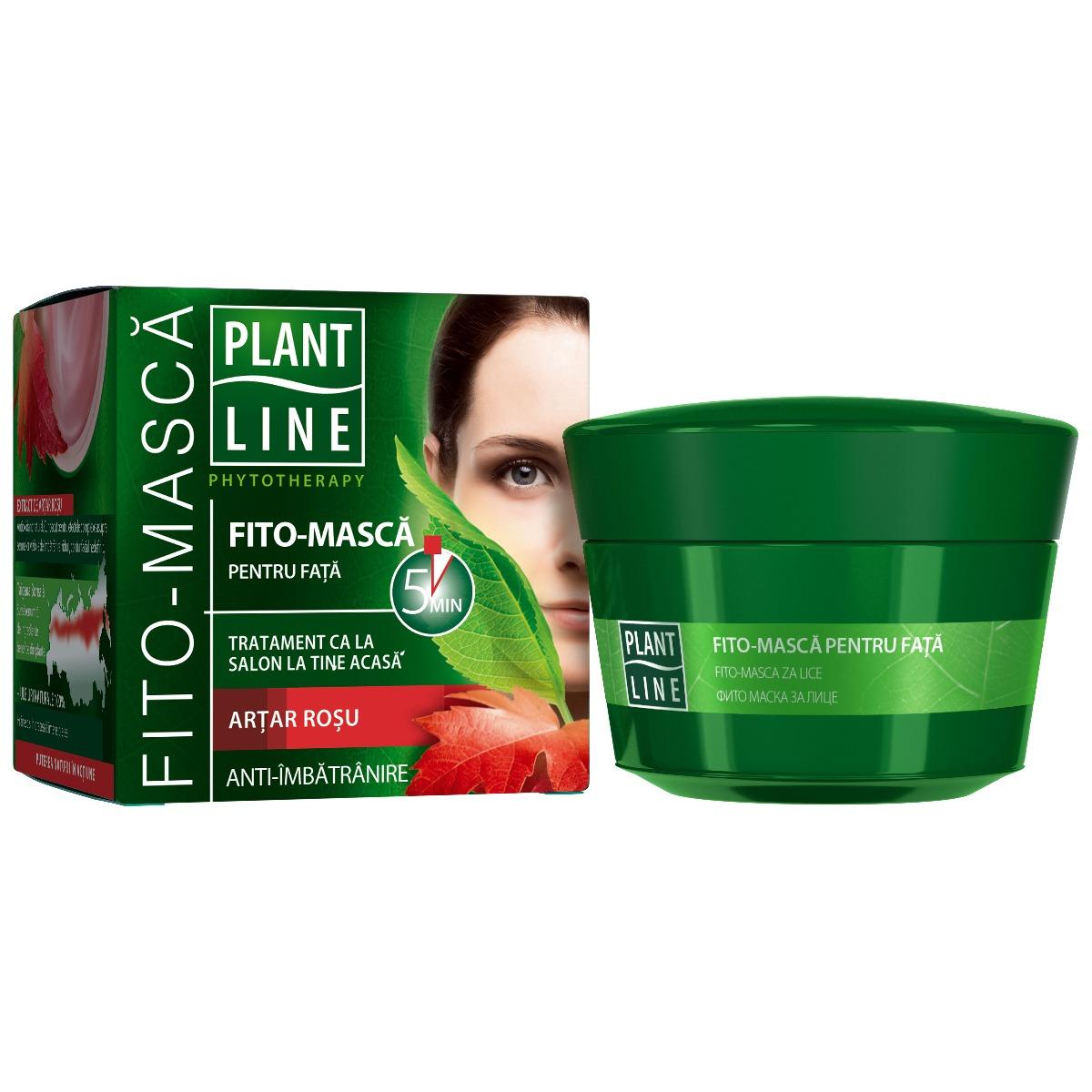 Masca de fata anti-imbatranire Artar Rosu Plant Line, 45 ml imagine