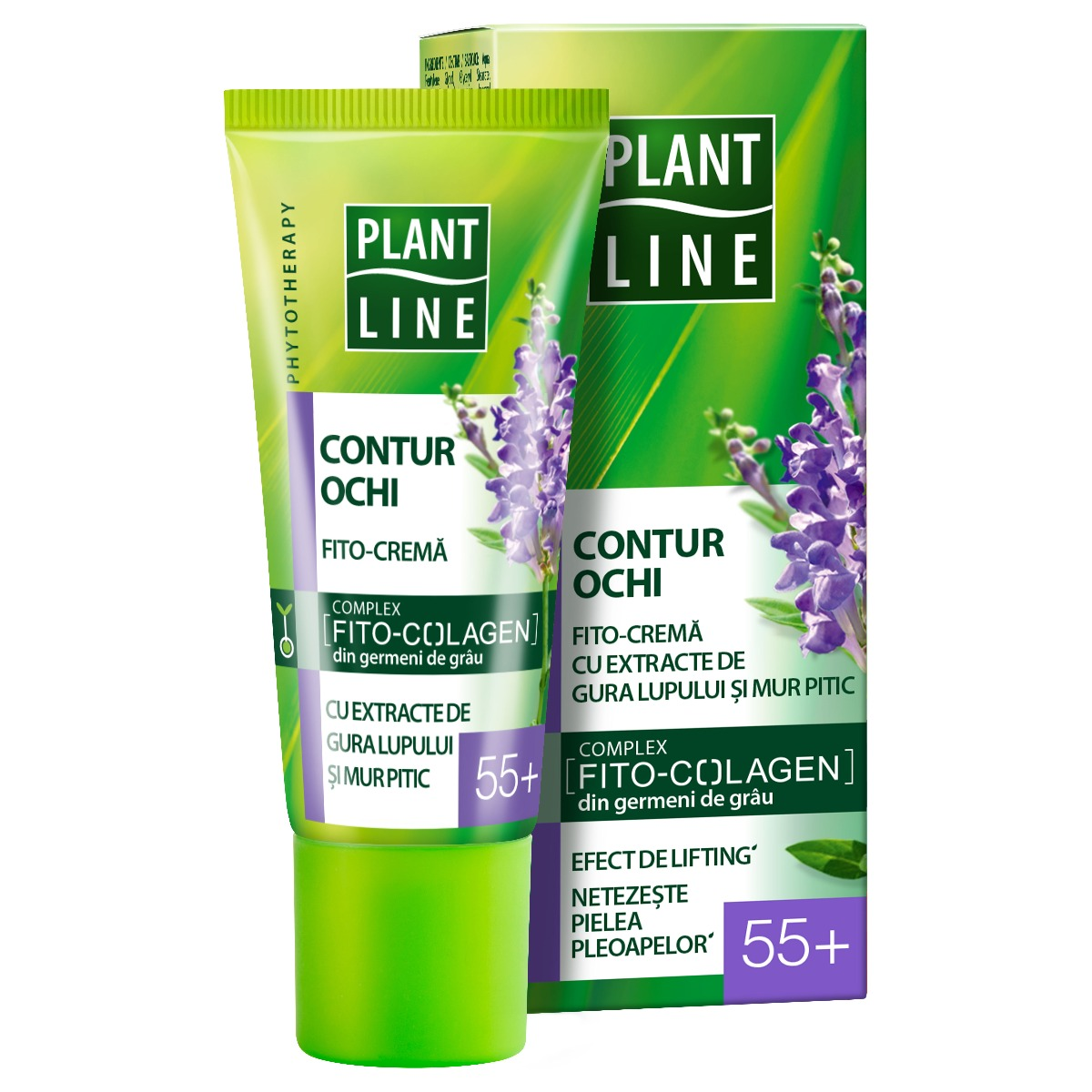 Crema de ochi Plant Line Mur Pitic, 55+, 20 ml imagine
