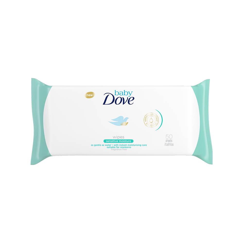 Servetele umede Dove Baby - Baby Sensitive, 50 buc