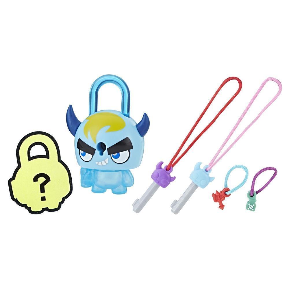 Figurina breloc Lock Stars - Monstru cu coarne albastru (E3172)