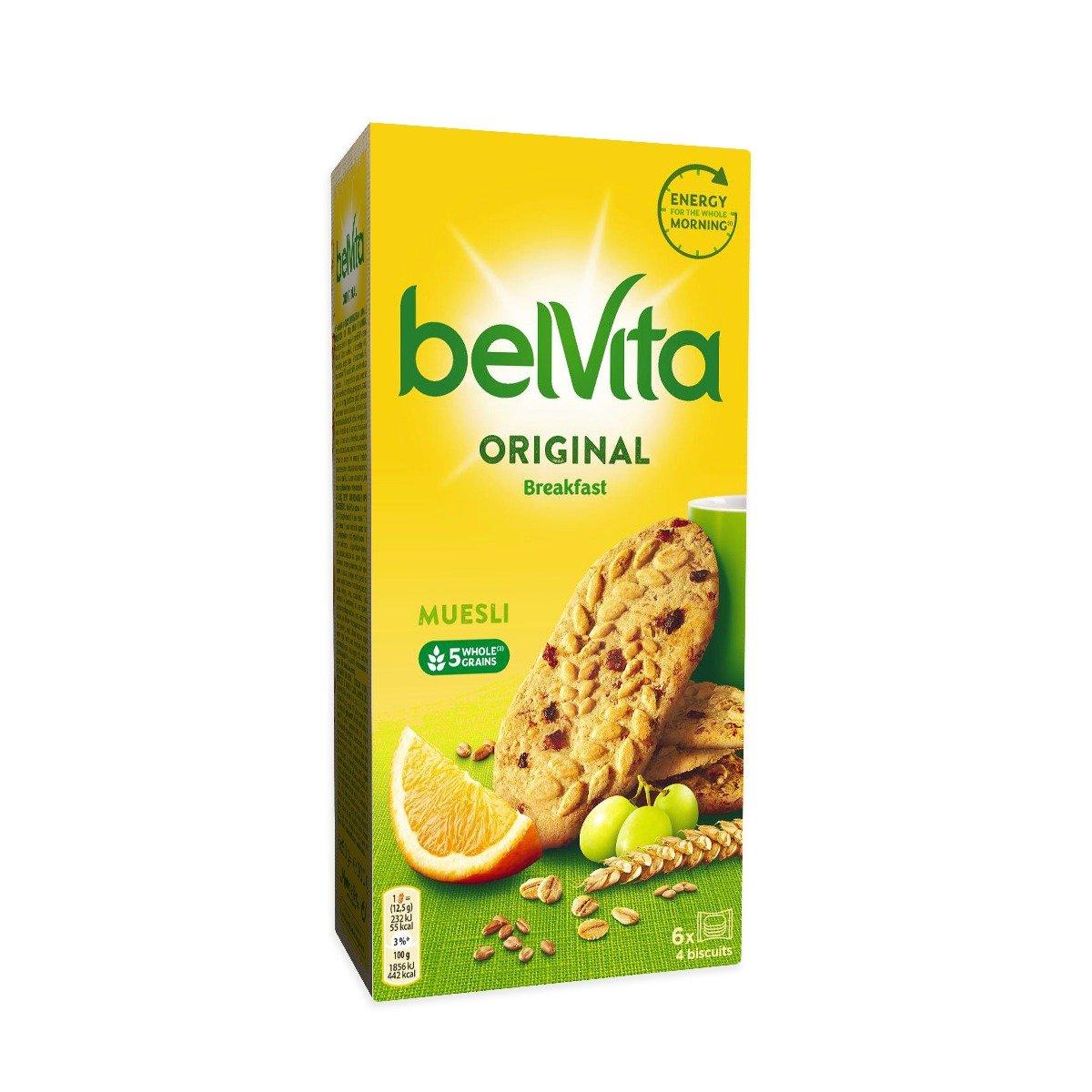 Biscuiti cu cereale si fructe Belvita Breakfast Muesli, 300 g imagine