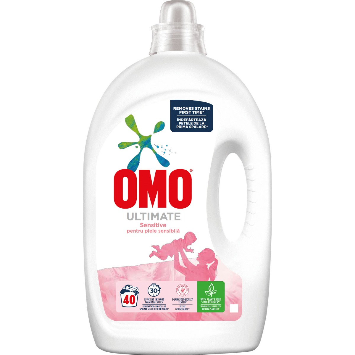 Detergent lichid Omo Ultimate Sensitive, 40 spalari, 2 L imagine 2021