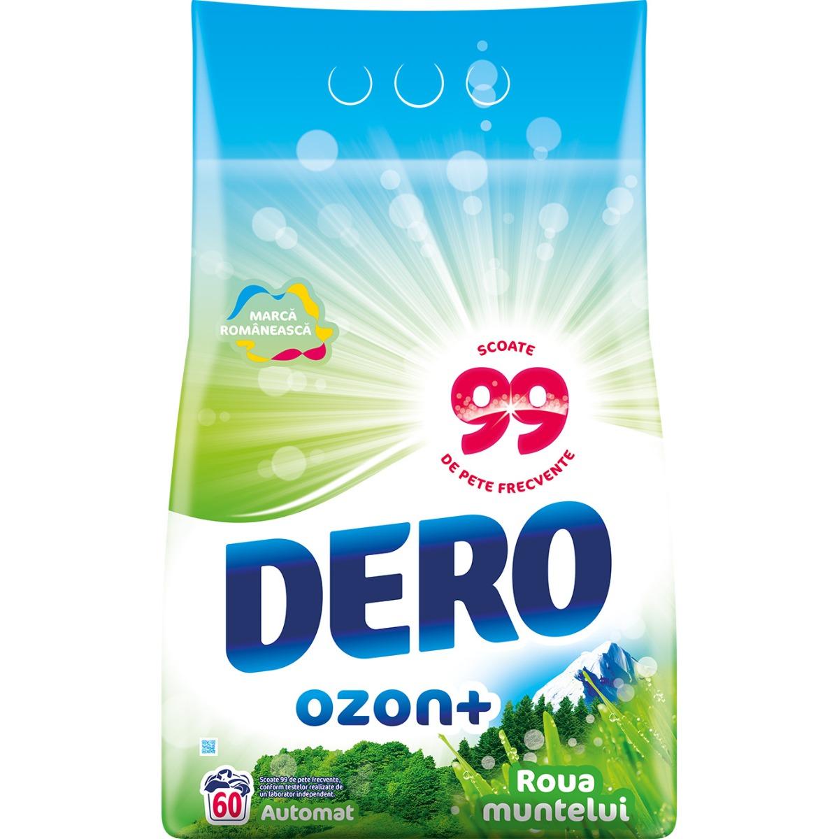 Detergent automat Dero Ozon+ Roua Muntelui, 60 spalari, 6 kg