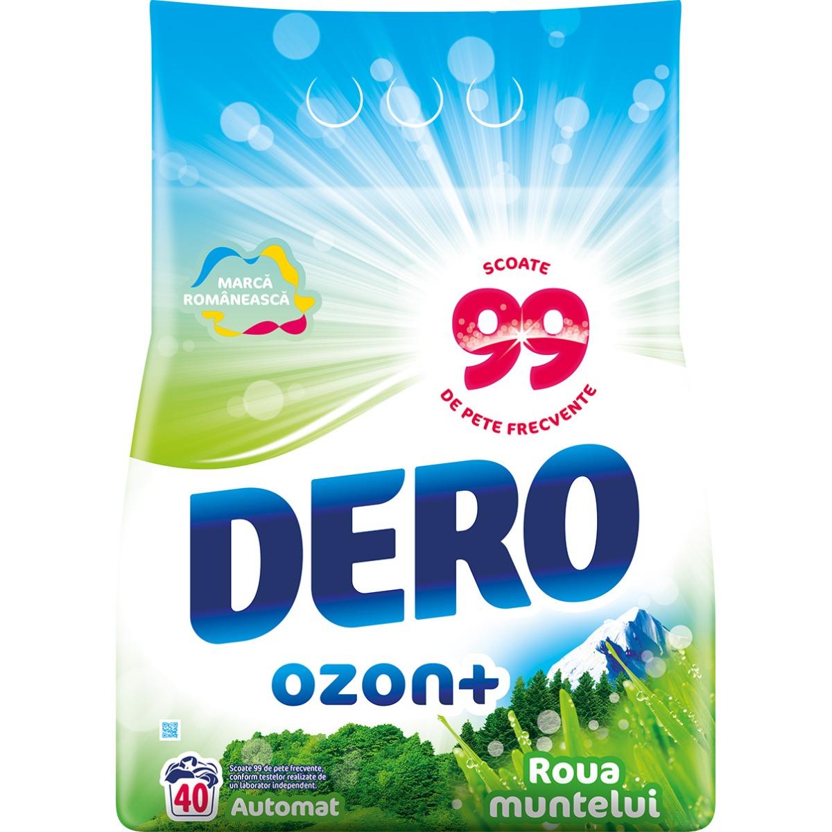 Detergent automat Dero Ozon+ Roua Muntelui, 40 spalari, 4 kg imagine