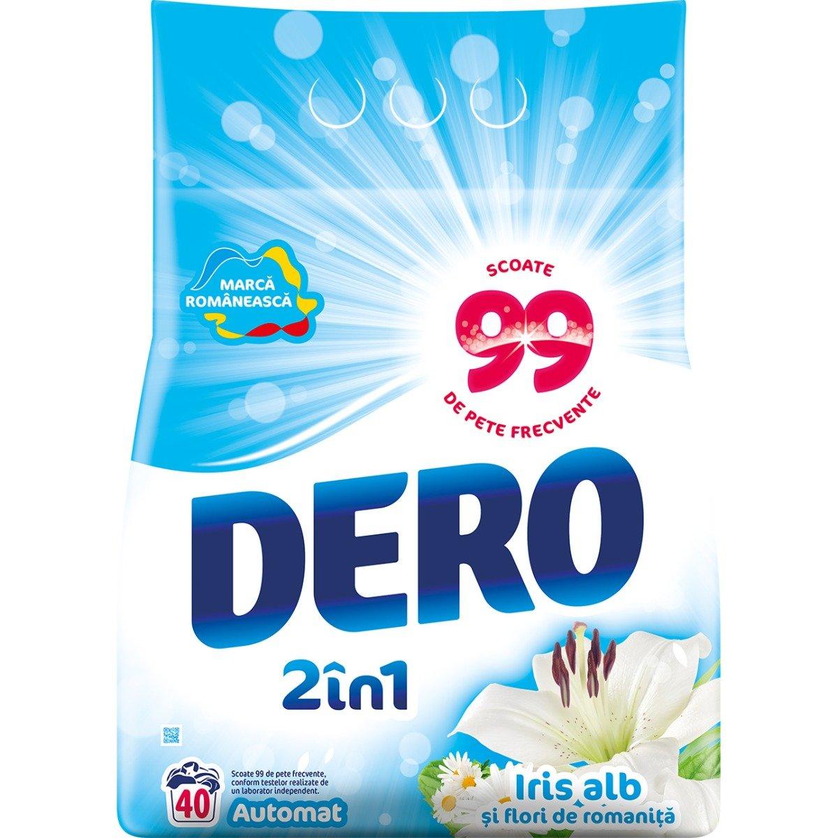 Detergent automat Dero 2 in 1 Iris Alb, 40 spalari, 4 kg imagine
