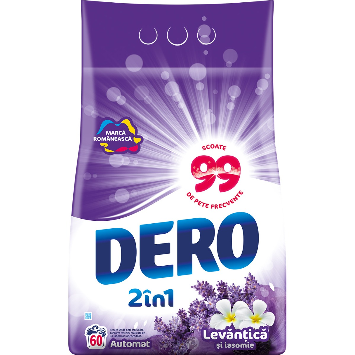 Detergent automat Dero 2 in 1 Levantica, 60 spalari, 6 kg imagine 2021