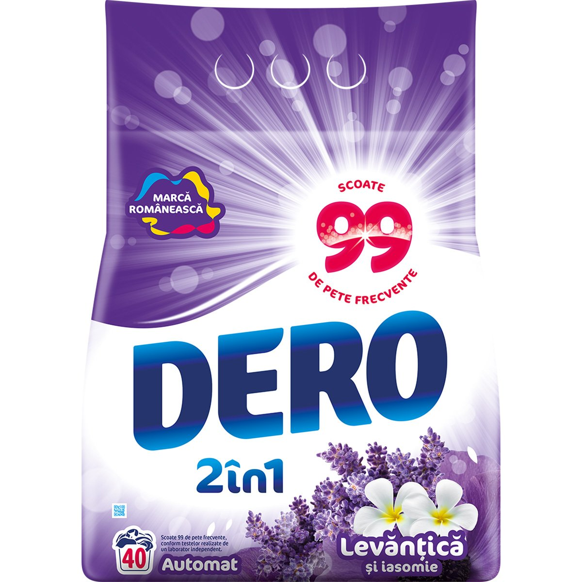 Detergent automat Dero 2 in 1 Levantica, 40 spalari, 4 kg imagine 2021