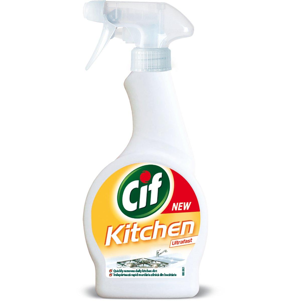 Spray curatare bucatarie Cif, 500 ml imagine
