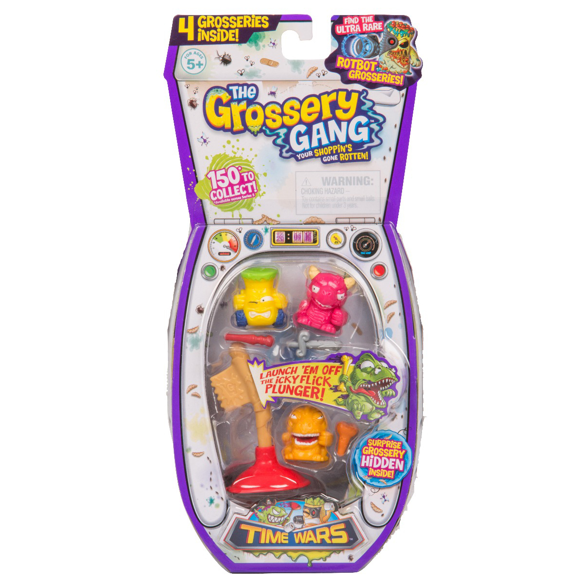 Set figurine Grossery Gang, Time Wars, S5, Regular