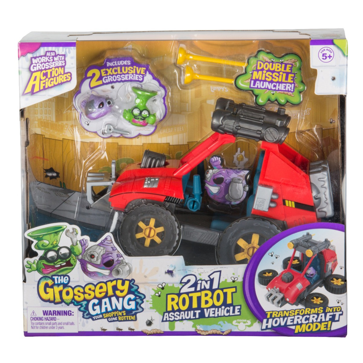 Set de joaca vehicul de asalt 2 in 1 Rotbot ATV Grossery Gang, S5