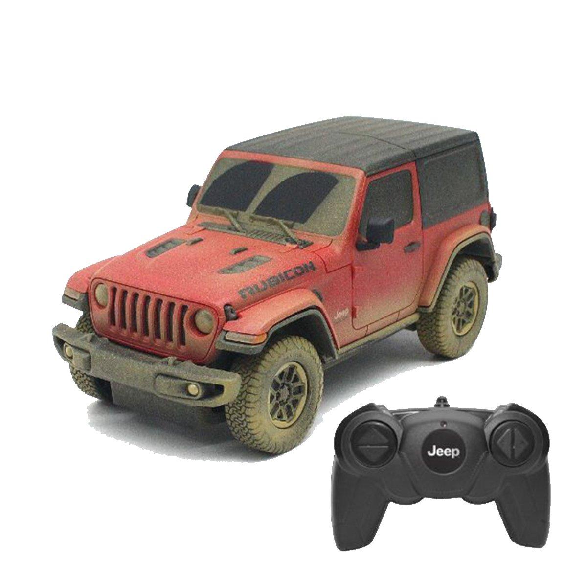 Masinuta cu telecomanda, Rastar, Jeep Wrangler Rubicon-Muddy Version, 1:24