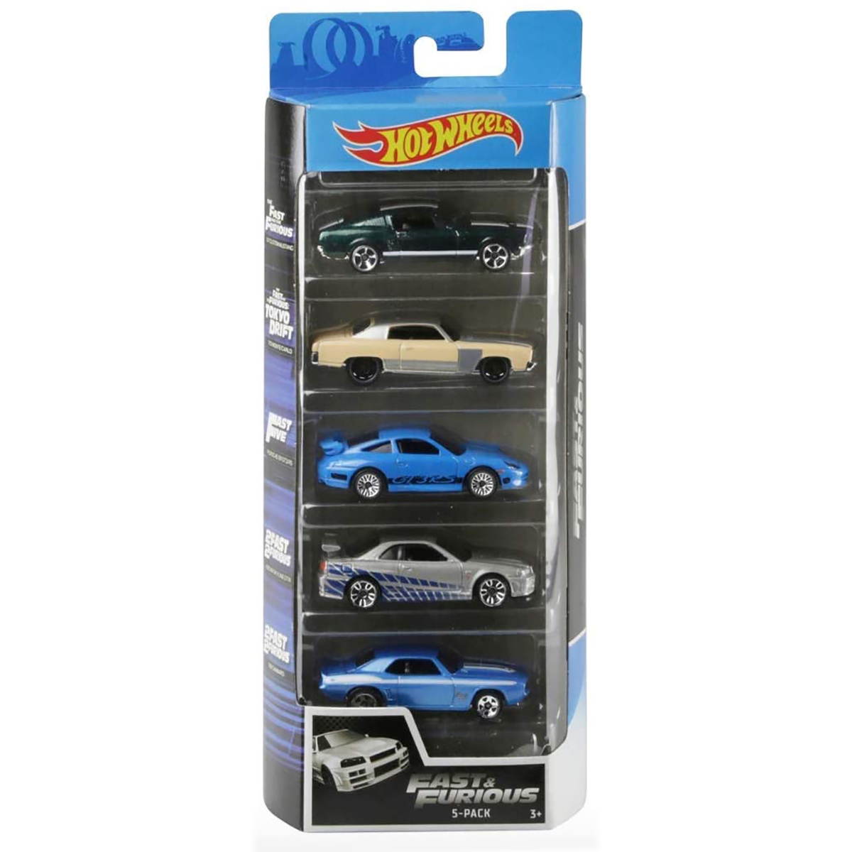 Set masinute Hot Wheels, Fast and Furios, GHP55, 1:64 (5 modele)