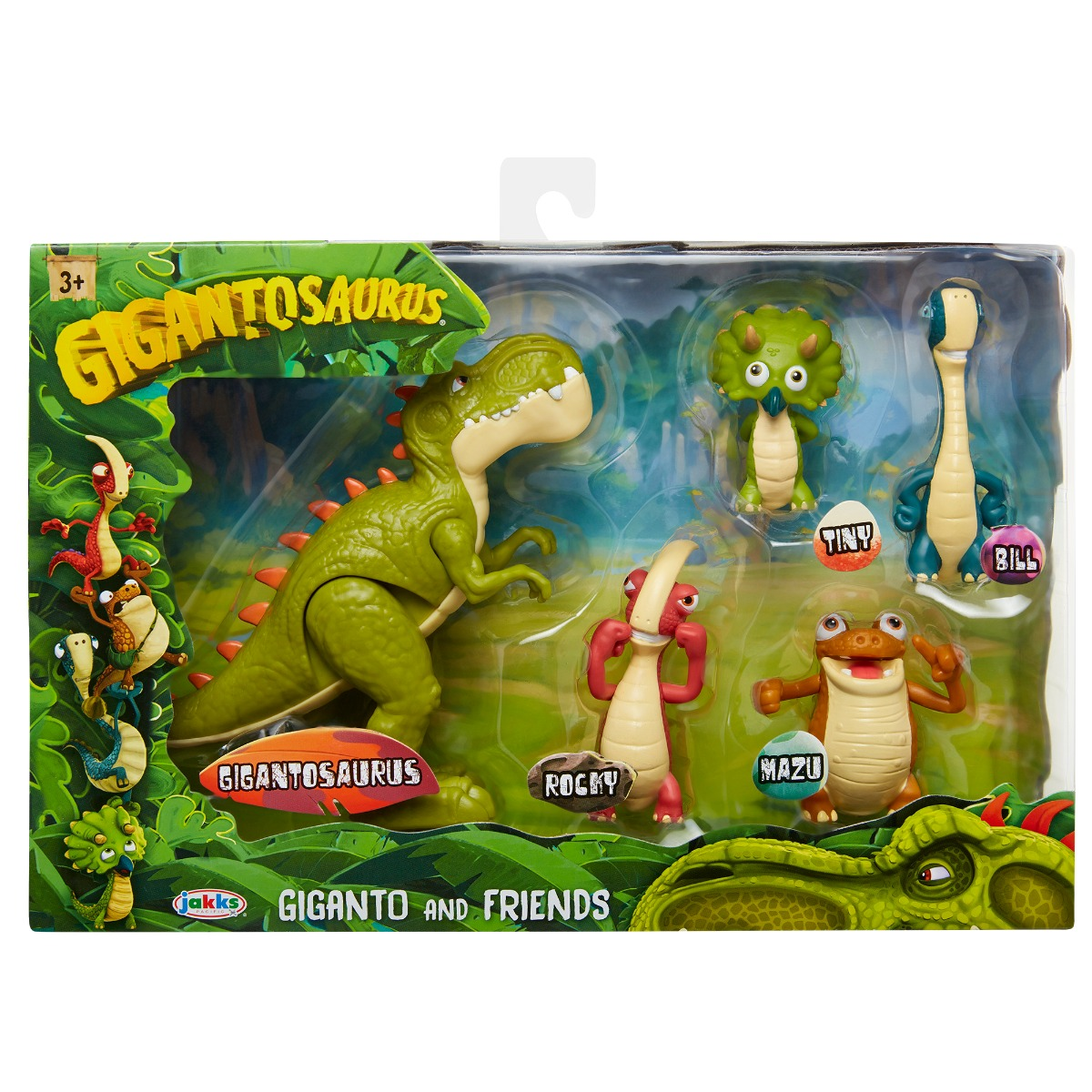 Set 5 figurine Gigantosaurus, Giganto And Friends