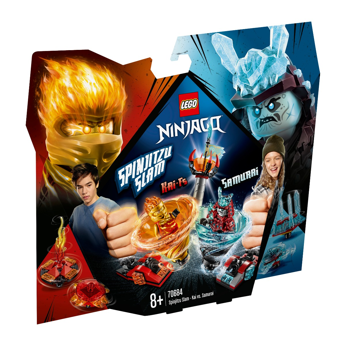 LEGO® NINJAGO® - Slam Spinjitzu - Kai contra Samurai (70684)