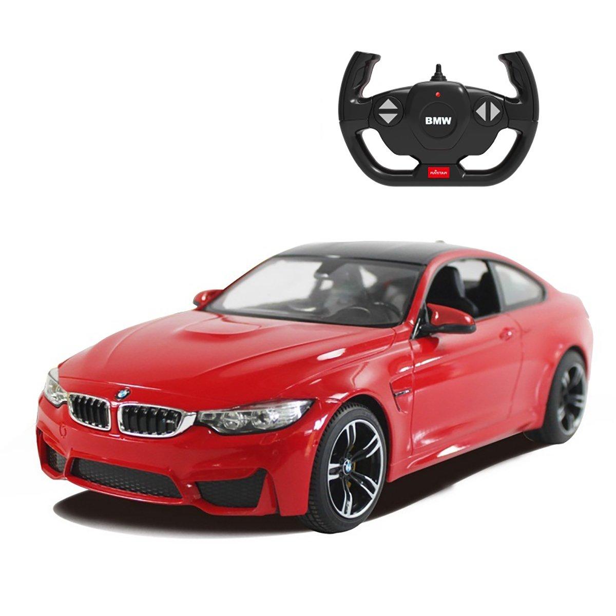 Masinuta cu telecomanda Rastar BMW M4 Coupe, Rosu, 1:14