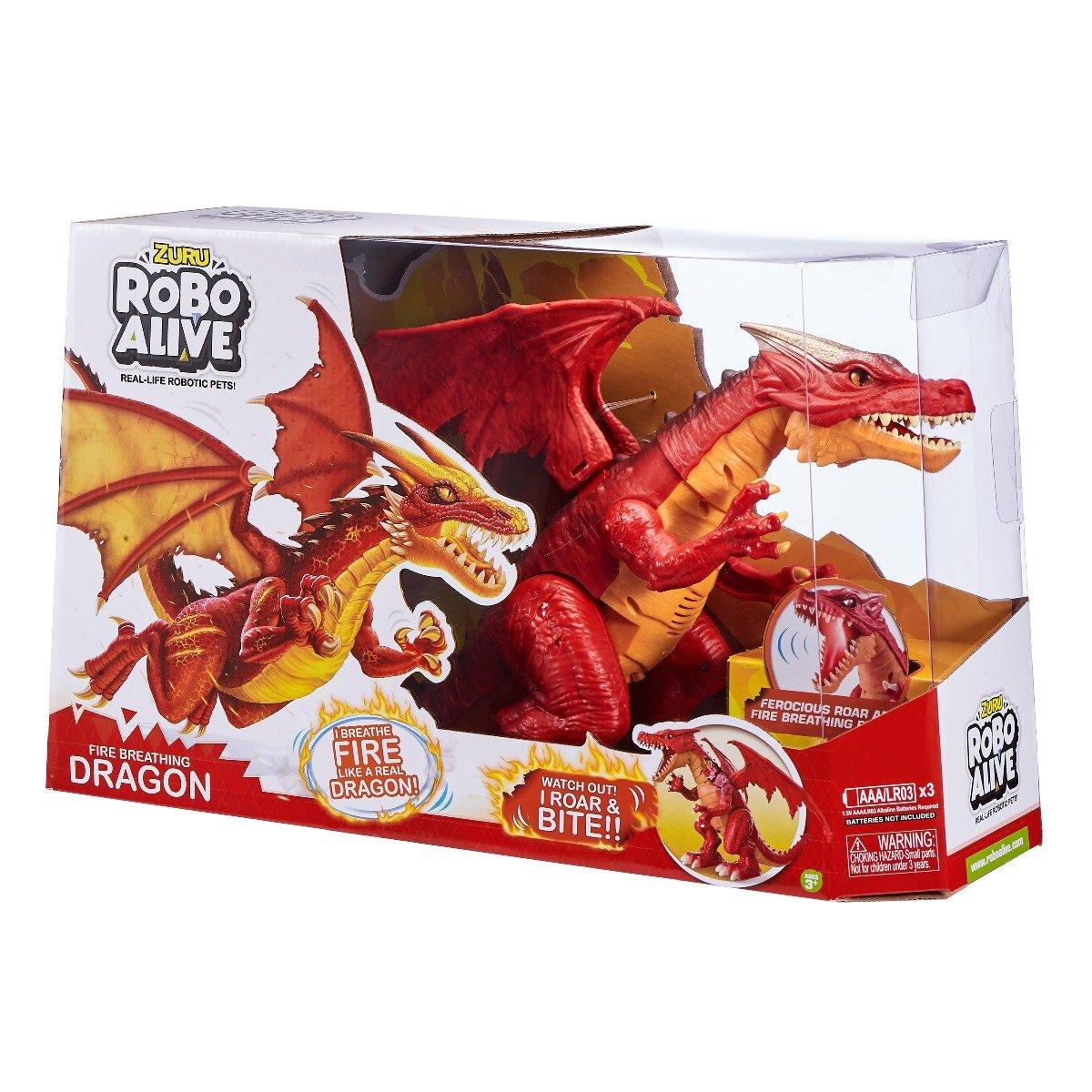 Jucarie interactiva Robo Alive, Fire Breathing Dragon