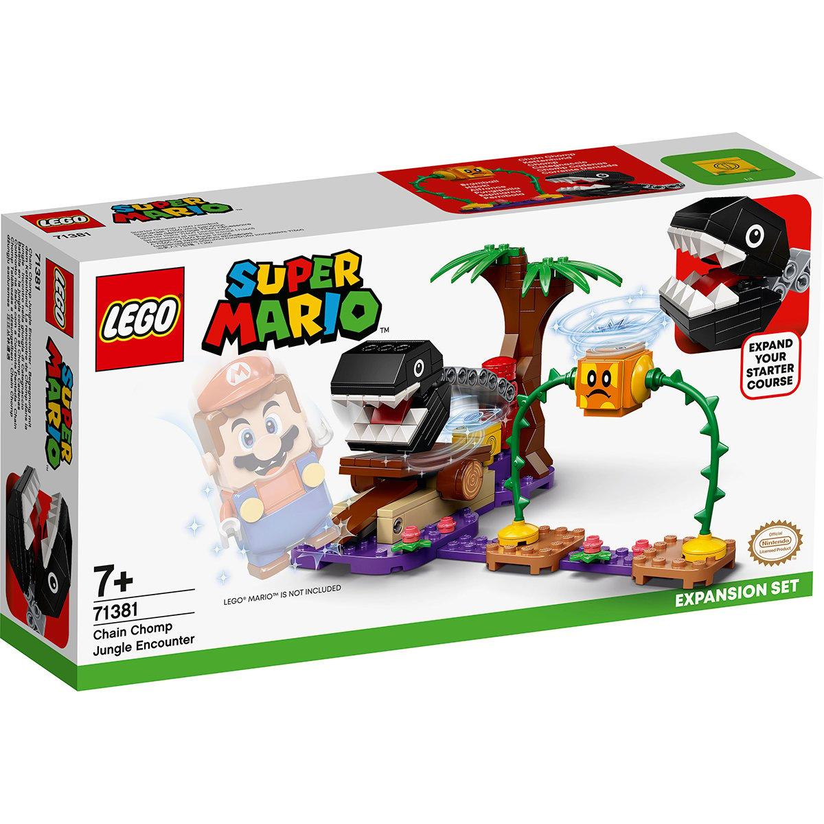 LEGO® Super Mario - Set de extindere Intalnirea din jungla a lui Chain Chomp (71381)