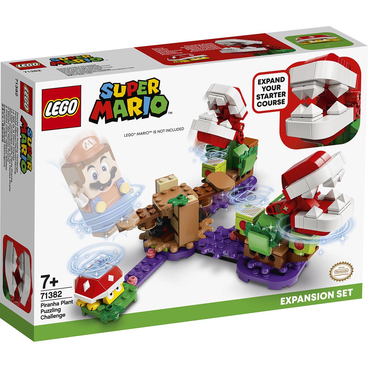 LEGO® Super Mario - Set de extindere Provocarea Plantei Piranha (71382)