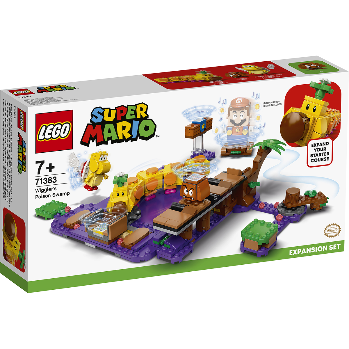 LEGO® Super Mario - Set de extindere Mlastina otravita a lui Wiggler (71383)
