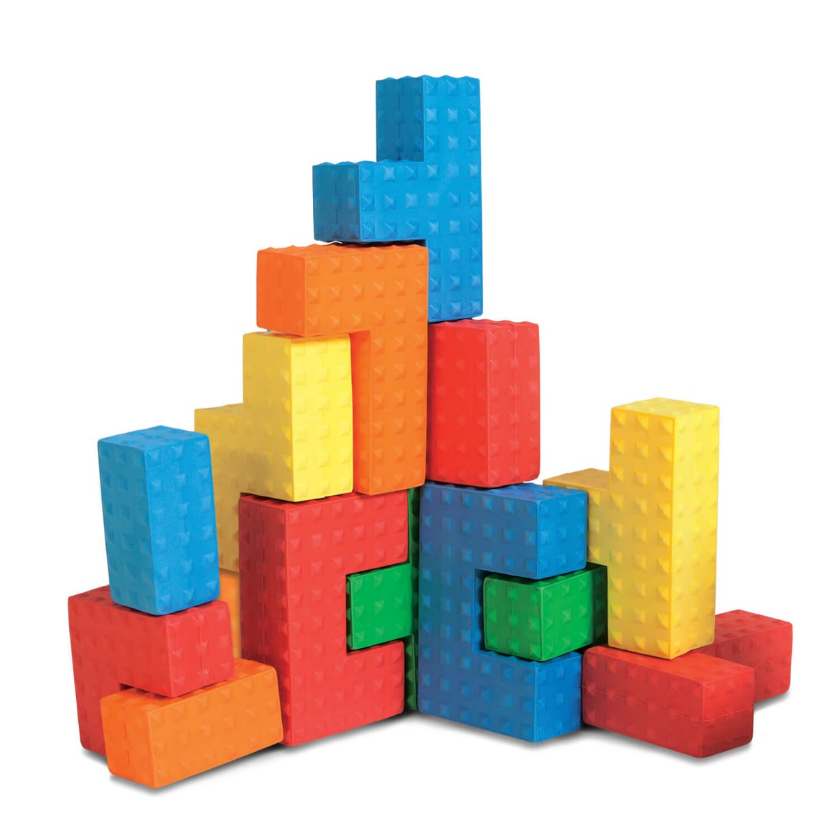 Set 18 forme texturate de construit Edushape
