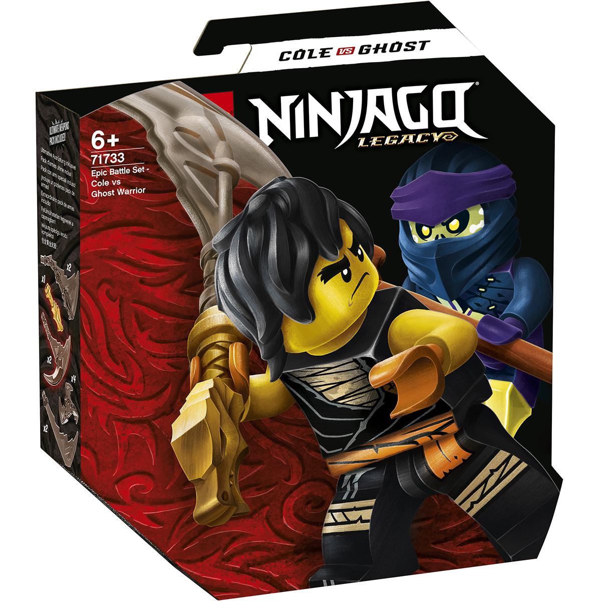LEGO® Ninjago® - Set de lupta epica - Cole contra Ghost (71733)