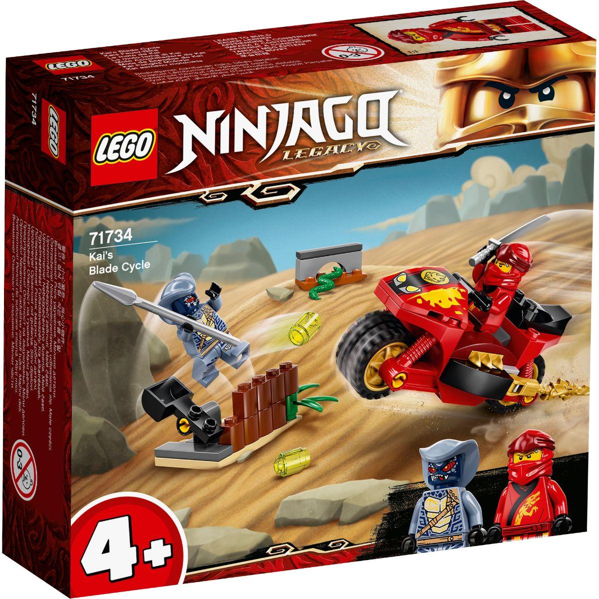 LEGO® Ninjago - Motocicleta Blade a lui Kai (71734)