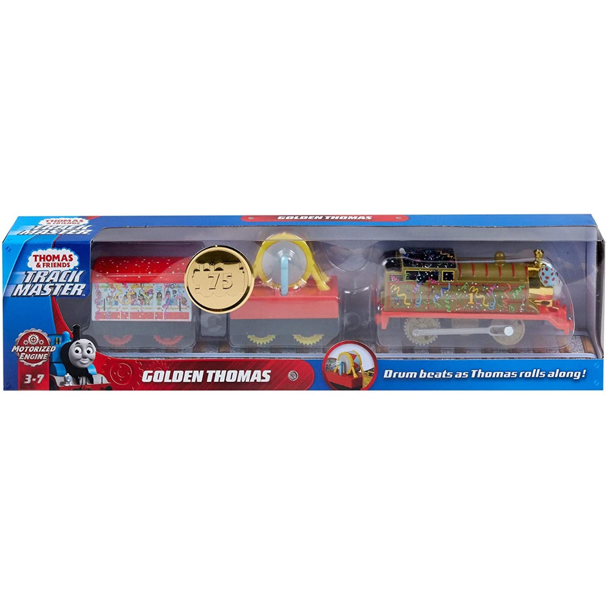Locomotiva motorizata cu 2 vagoane Thomas and Friends, Golden Thomas