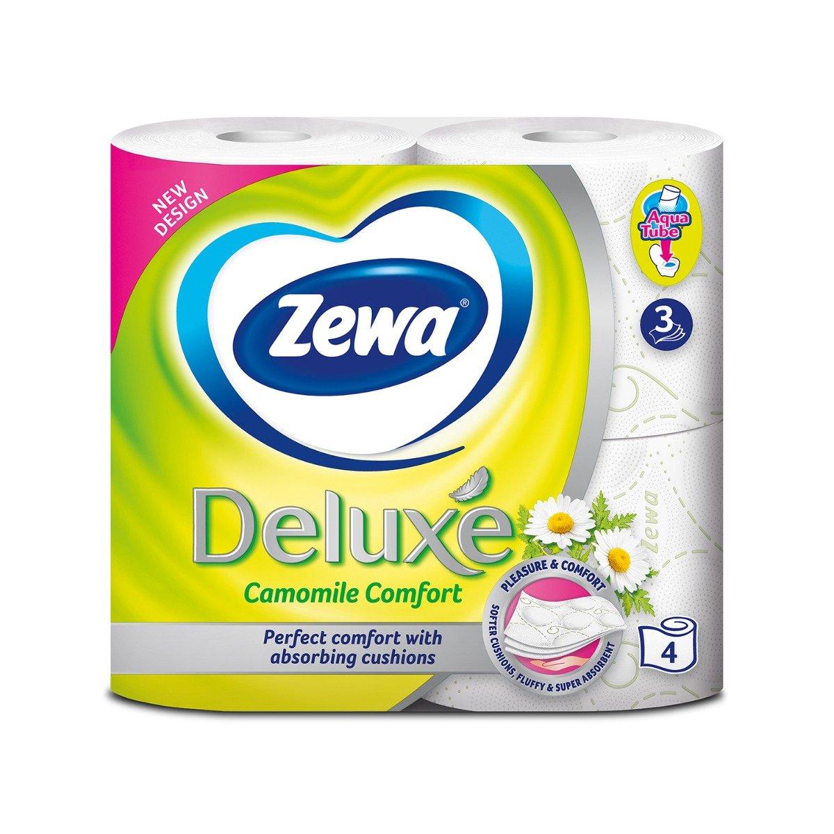 Hartie igienica Zewa Deluxe Camomile Comfort, 3 straturi, 4 role imagine 2021