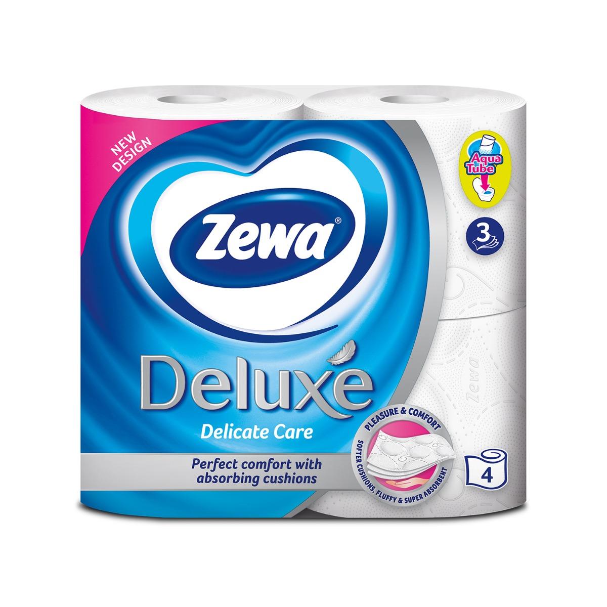 Hartie igienica Zewa Deluxe Delicate care, 3 straturi, 4 role imagine