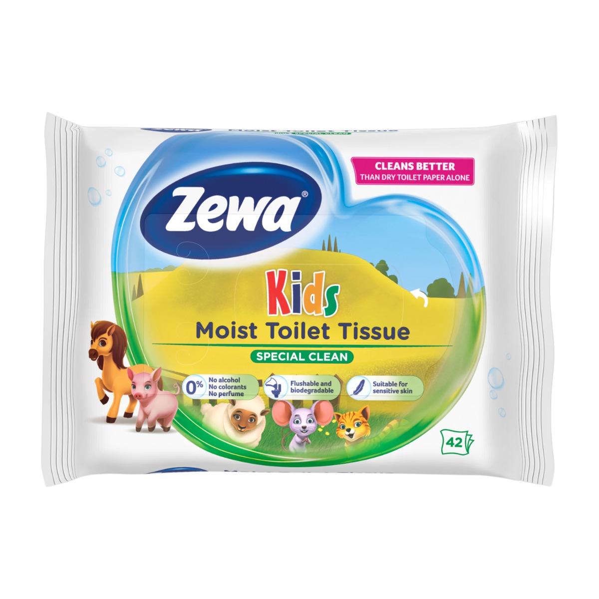 Hartie igienica umeda Zewa Kids, 42 bucati imagine