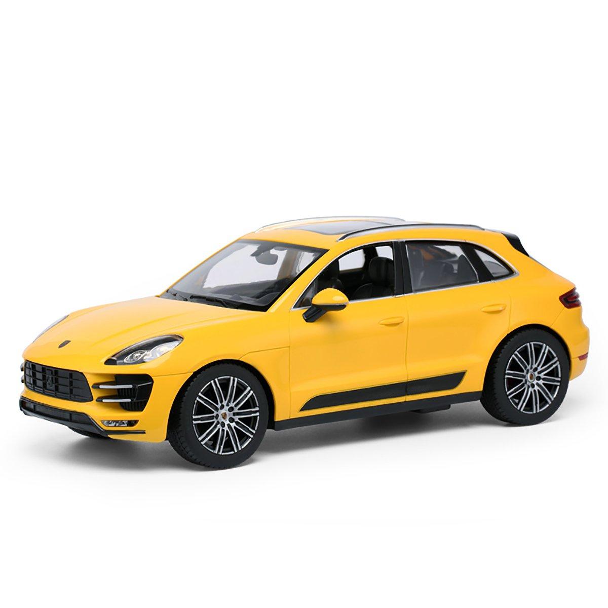 Masinuta cu telecomanda Rastar Porsche Macan Turbo, Galben, 1:14