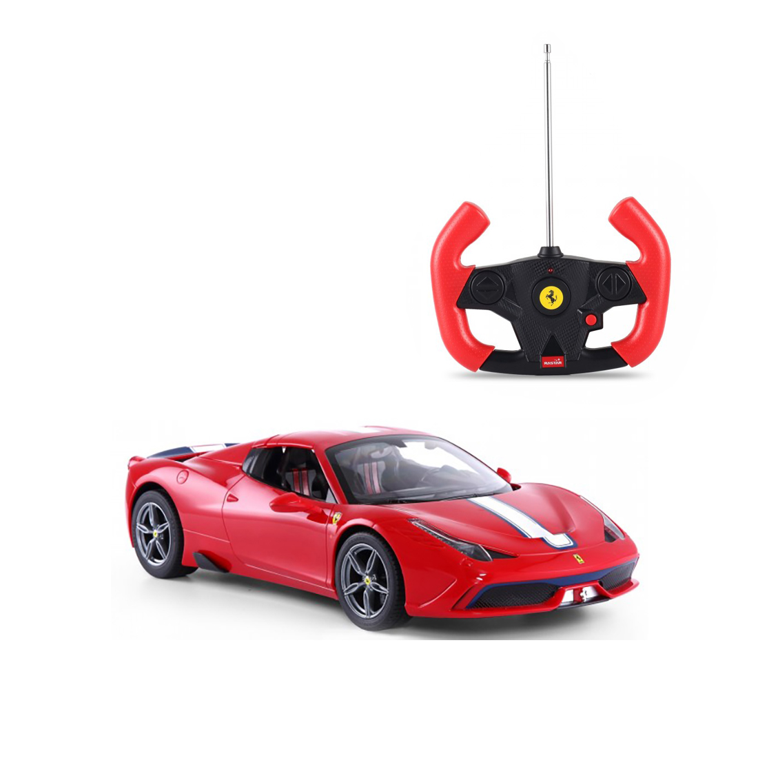 Masinuta cu telecomanda Rastar Ferrari 458 Convertible, Rosu