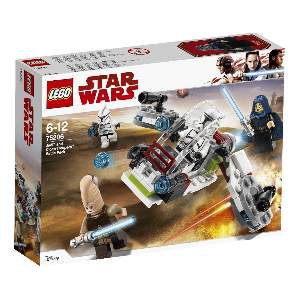 lego® star wars™ - pachet de lupta jedi si clone troopers (75206)