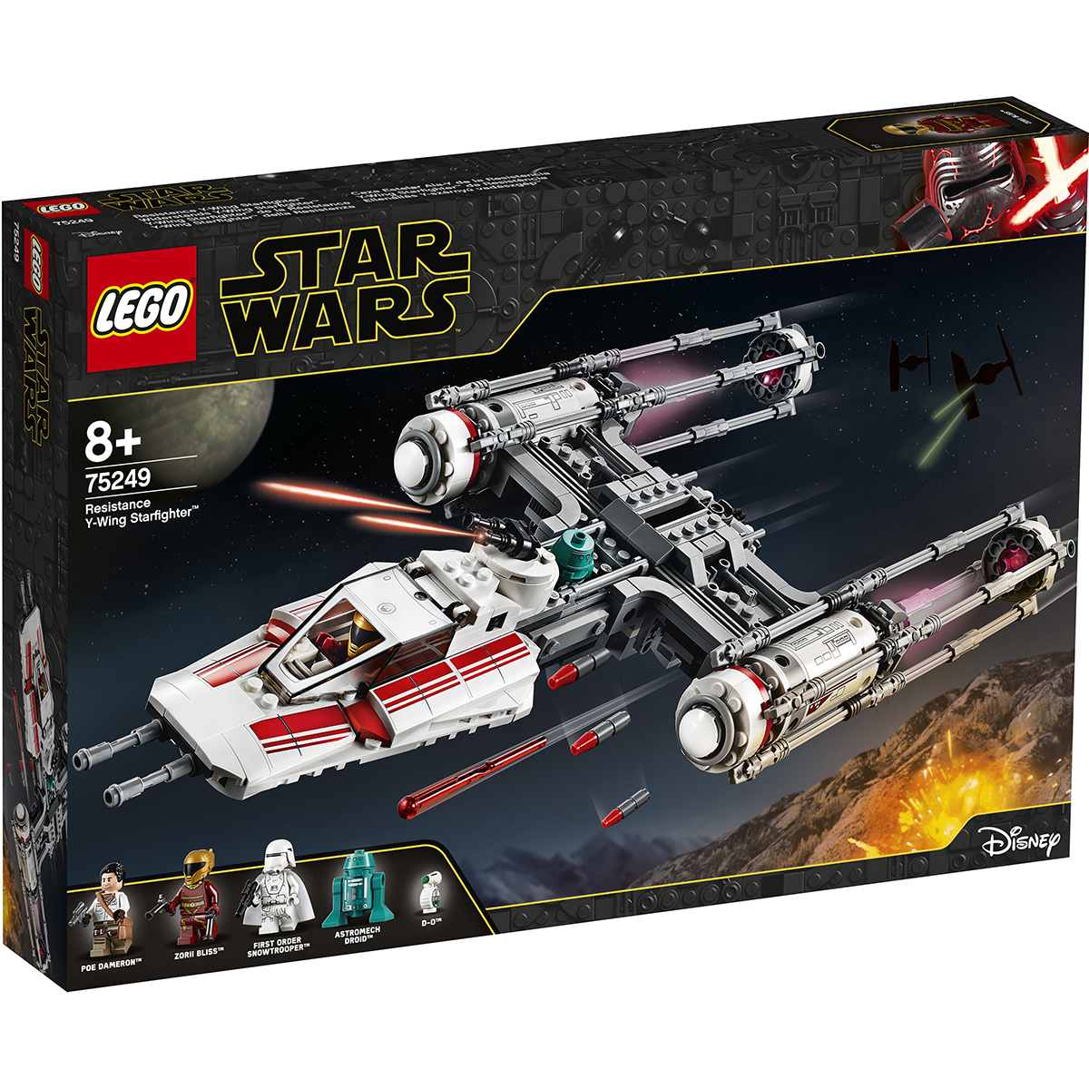 LEGO® Star Wars™ - Y-Wing Starfighter al Rezistentei (75249)