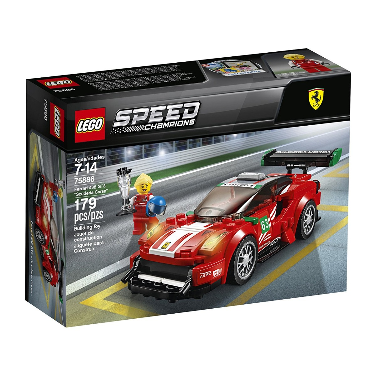 lego® speed champions - ferrari 488 gt3 scuderia corsa (75886)