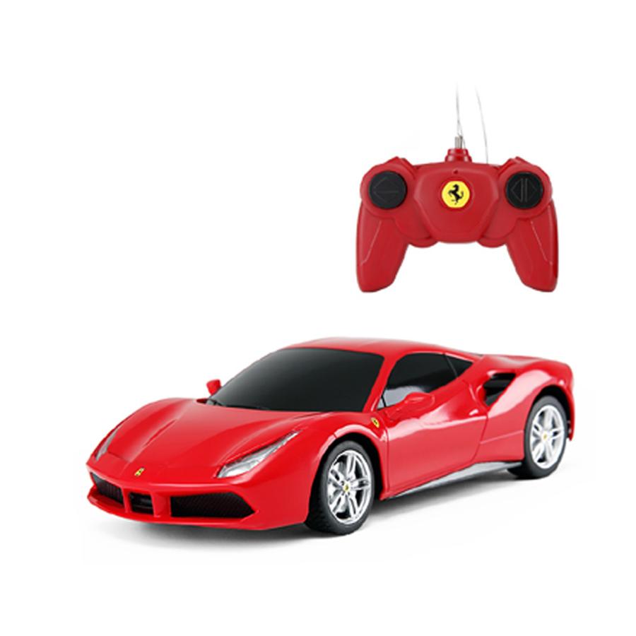 Masinuta Cu Telecomanda Rastar Ferrari 488 Gtb, Rosu
