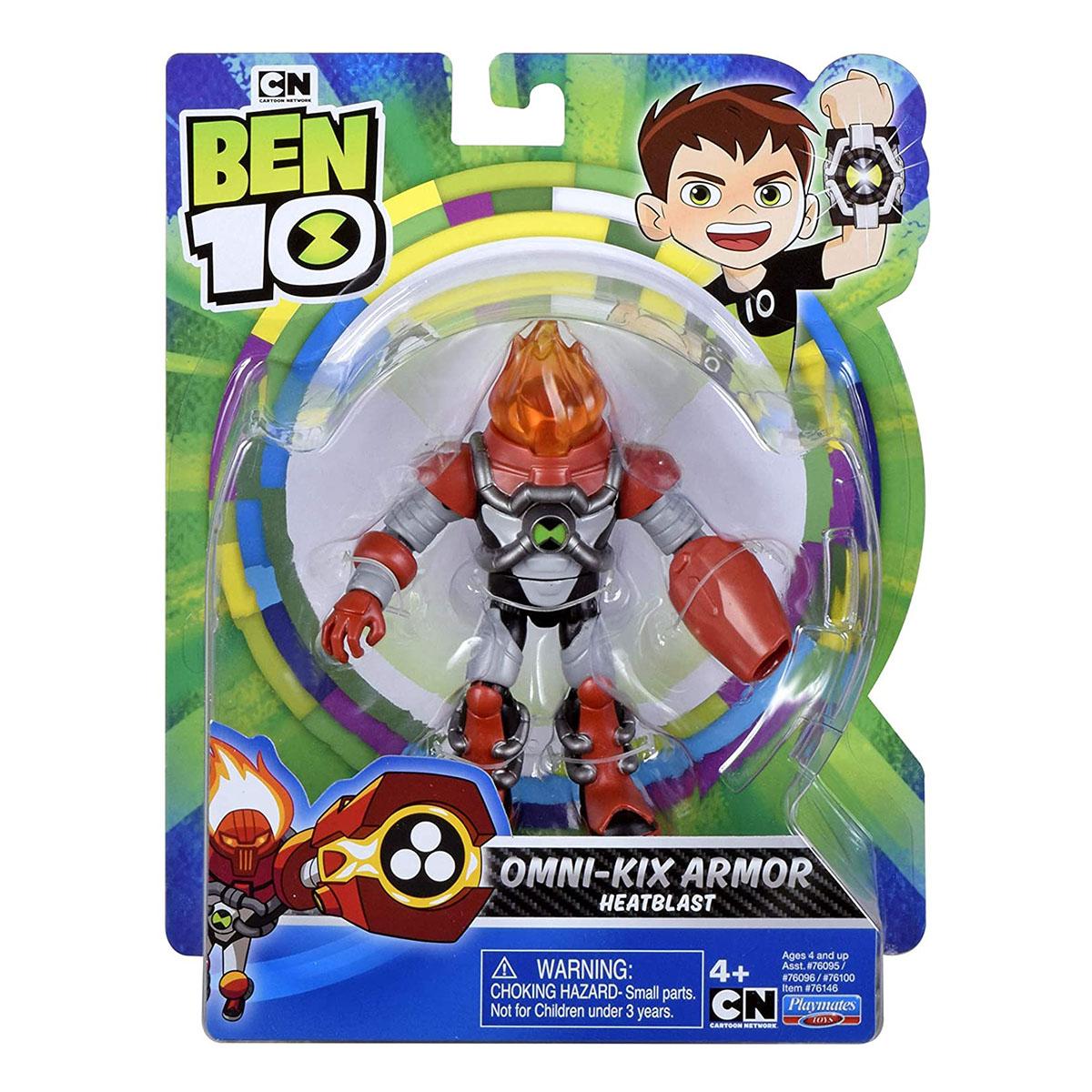 Figurina Ben 10, Omni-Kix Armor, Heatblast, 76146, 12 cm