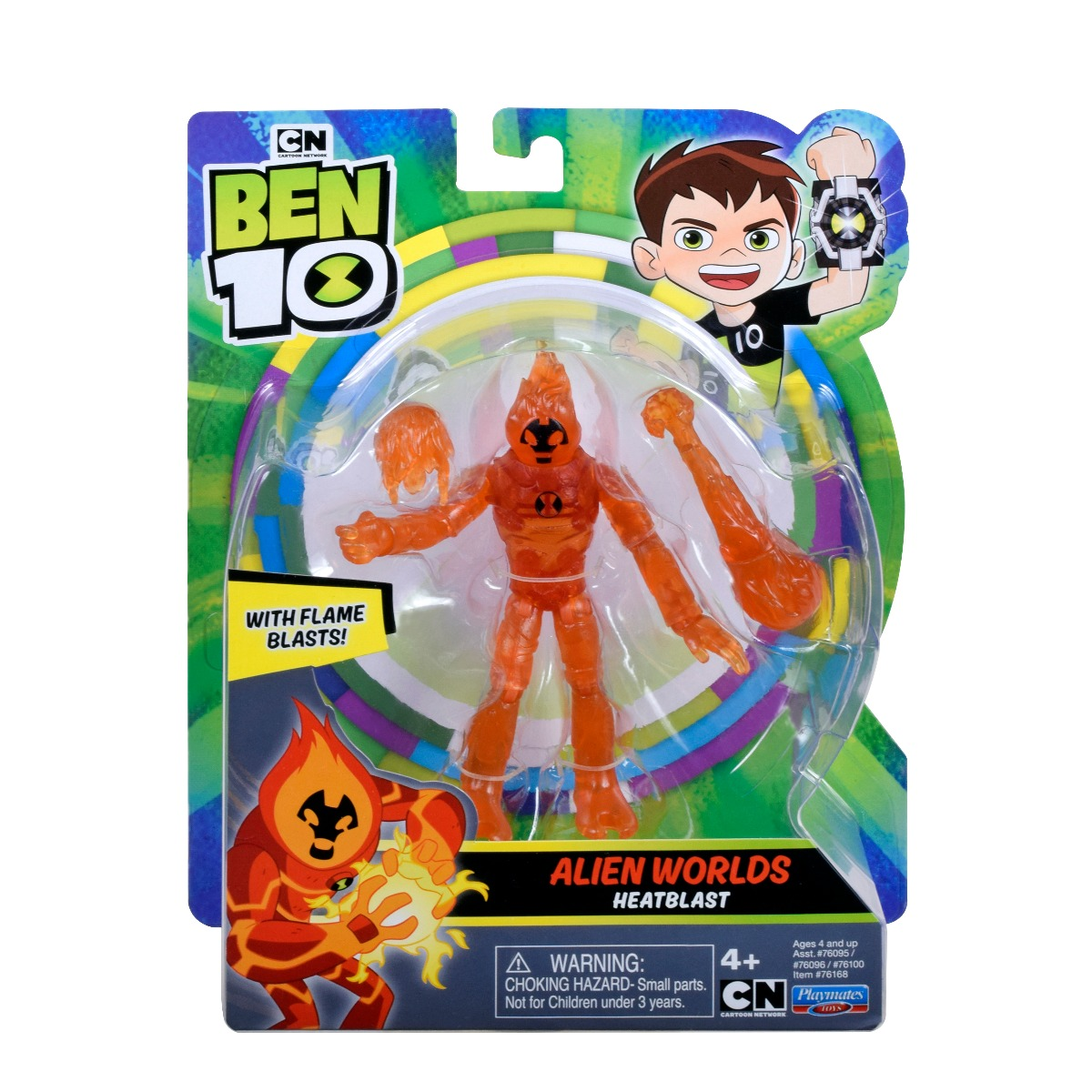 Figurina Ben 10, Alien Worlds, Heatblast, 12 cm, 76168