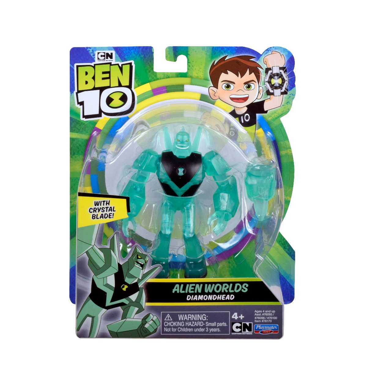 Figurina Ben 10, Alien Worlds, Diamondhead, 12 cm, 76170