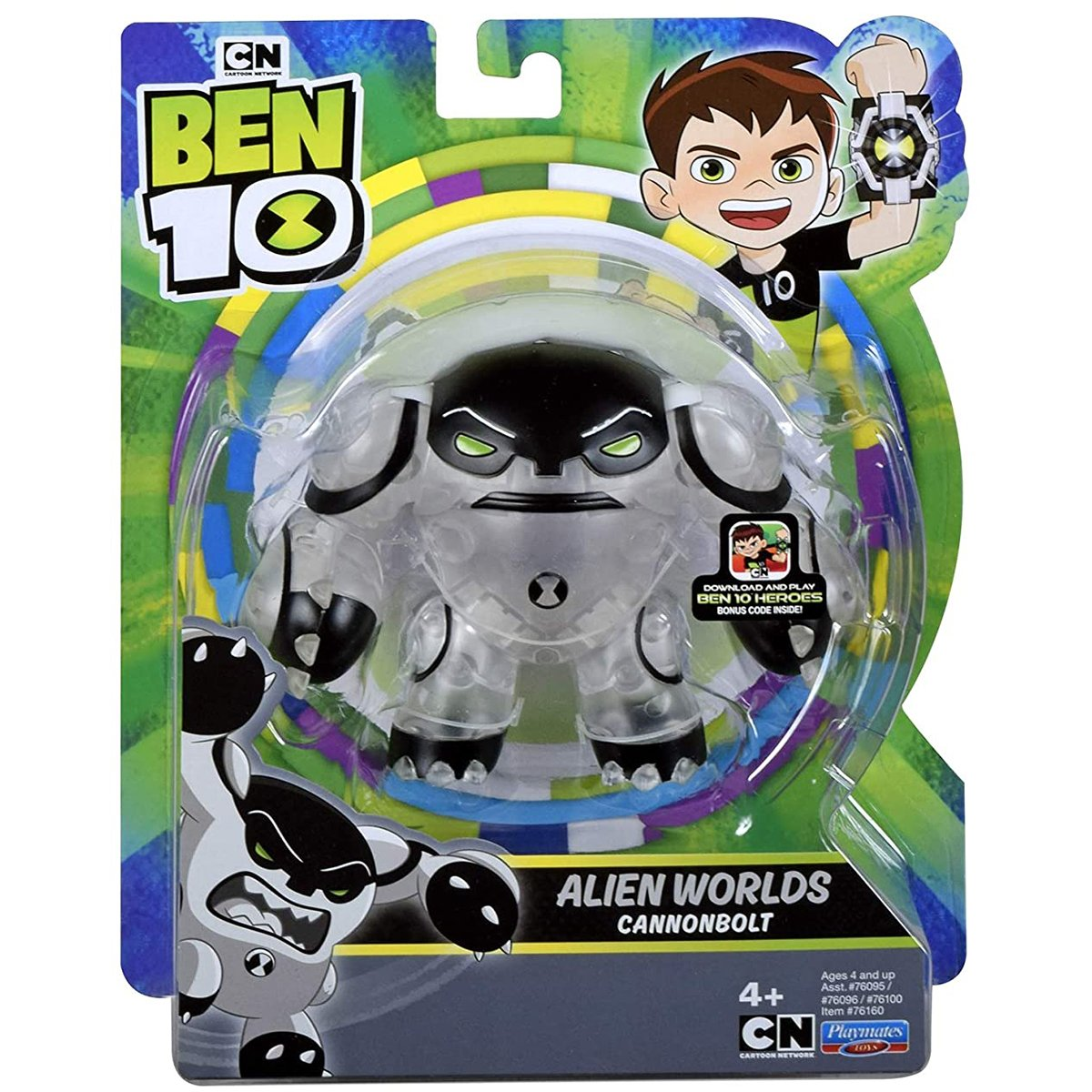 Figurina Ben 10 Alien Worlds, Cannonbolt, 12 cm, 76160