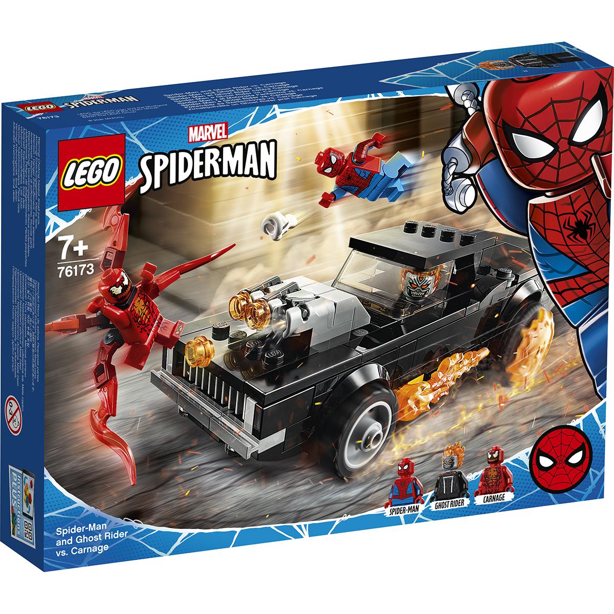 Lego® Marvel Super Heroes - Omul Paianjen Si Calaretul Fantoma Contra Carnage (76173)