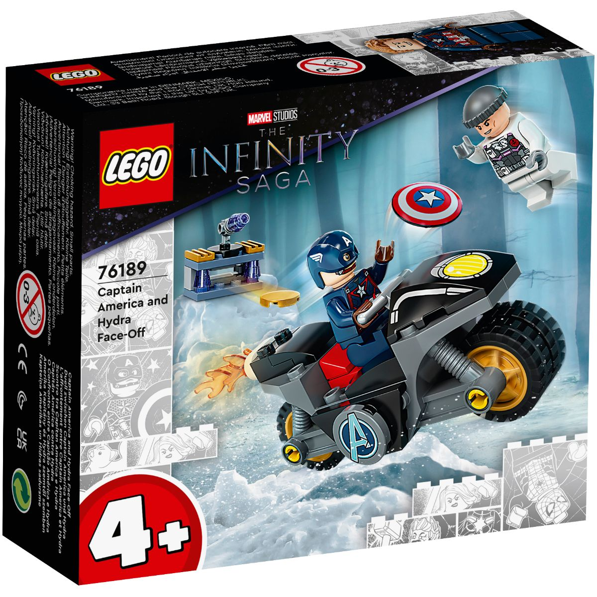 LEGO® Super Heroes - Captain America si Hydra Face-off (76189)