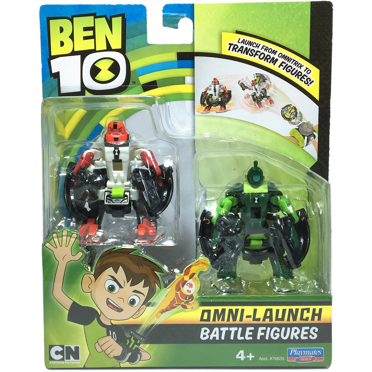 Set figurine Ben 10 Four Arms si Wildvine