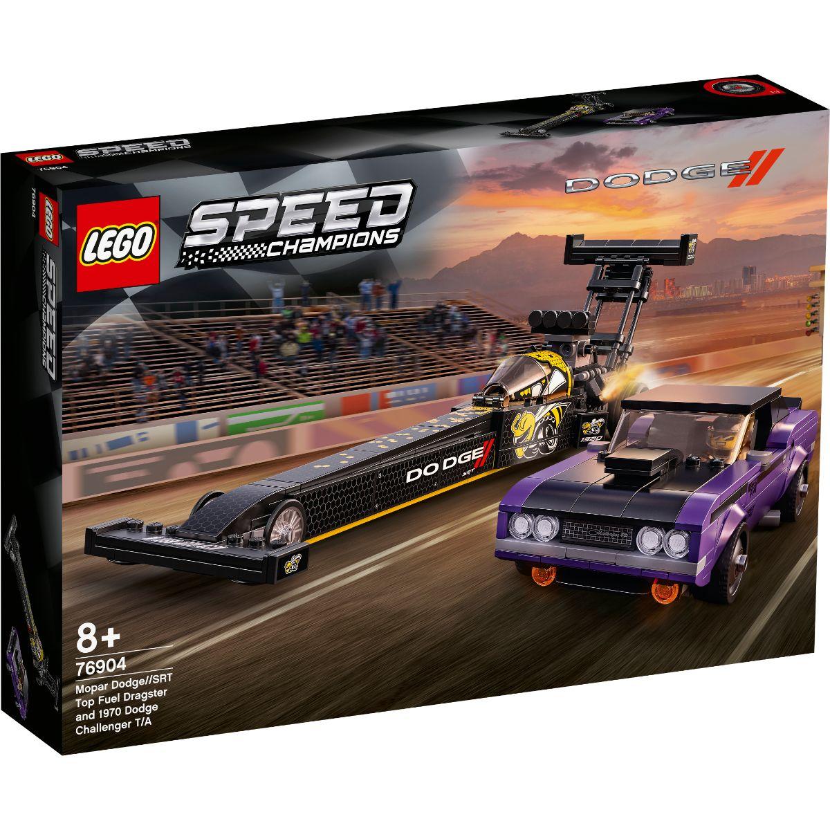 LEGO® Speed Champions - Mopar Dodge Srt Top Fuel Dragster si 1970 Dodge Challenger (76904)
